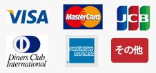 Visa, master card, JCBほか