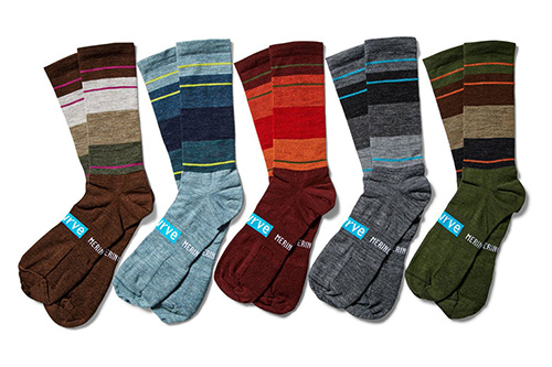 "SWRVE ""MERINO BLOCK POP"" SOCKS"